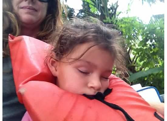 Aubry fell asleep, the tour was about an hour and on a cloudy Florida day, perfect.