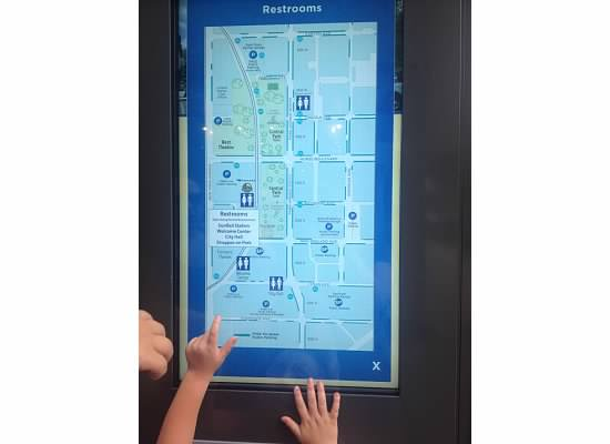 Map of restrooms in downtown Winter Park