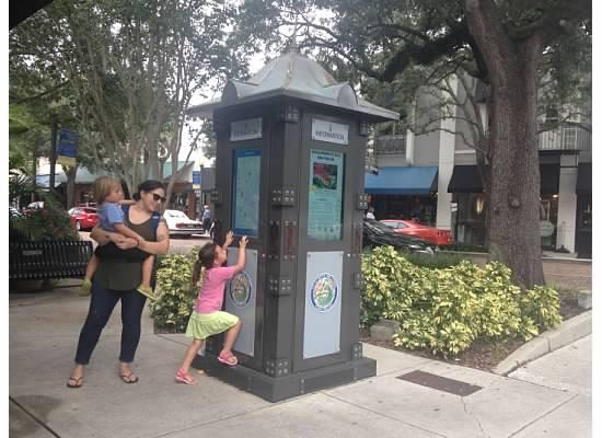 Interactive map kiosk