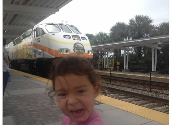 Catching the SunRail at the DaBerry Station