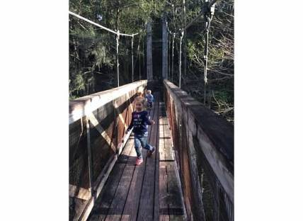Illana on suspension bridge 2015